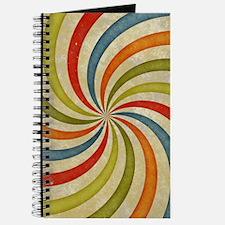 Psychedelic Retro Swirl Journal