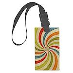 Psychedelic Retro Swirl Luggage Tag