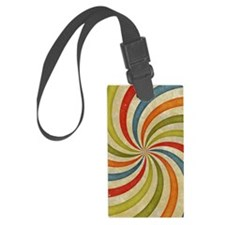 Psychedelic Retro Swirl Luggage Tag