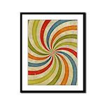 Psychedelic Retro Swirl Framed Panel Print