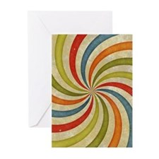 Psychedelic Retro Swirl Greeting Cards