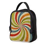 Psychedelic Retro Swirl Neoprene Lunch Bag