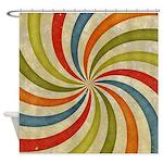 Psychedelic Retro Swirl Shower Curtain