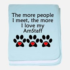 The More I Love My AmStaff baby blanket