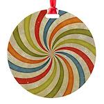 Psychedelic Retro Swirl Ornament