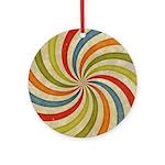 Psychedelic Retro Swirl Ornament (Round)