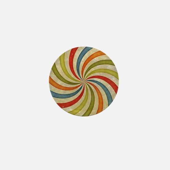 Psychedelic Retro Swirl Mini Button (100 pack)