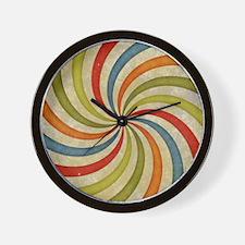 Psychedelic Retro Swirl Wall Clock