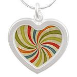 Psychedelic Retro Swirl Necklaces