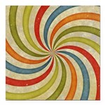 Psychedelic Retro Swirl Square Car Magnet 3