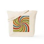 Psychedelic Retro Swirl Tote Bag