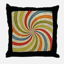 Psychedelic Retro Swirl Throw Pillow