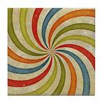 Psychedelic Retro Swirl Tile Coaster
