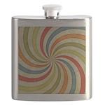 Psychedelic Retro Swirl Flask