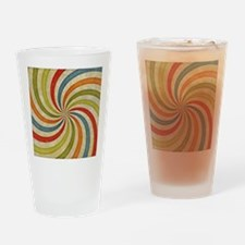 Psychedelic Retro Swirl Drinking Glass