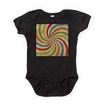 Psychedelic Retro Swirl Baby Bodysuit