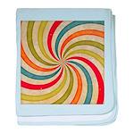 Psychedelic Retro Swirl baby blanket