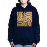 Psychedelic Retro Swirl Hooded Sweatshirt
