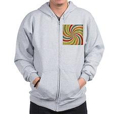 Psychedelic Retro Swirl Zip Hoodie