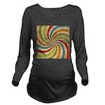 Psychedelic Retro Swirl Long Sleeve Maternity T-Sh