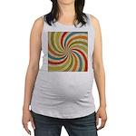 Psychedelic Retro Swirl Maternity Tank Top