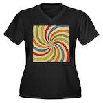 Psychedelic Retro Swirl Plus Size T-Shirt
