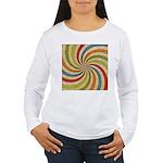 Psychedelic Retro Swirl Long Sleeve T-Shirt