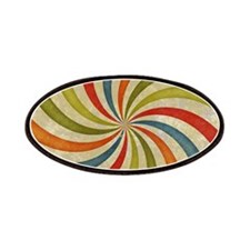 Psychedelic Retro Swirl Patches