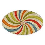 Psychedelic Retro Swirl Sticker