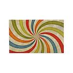Psychedelic Retro Swirl 3'x5' Area Rug