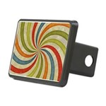 Psychedelic Retro Swirl Hitch Cover