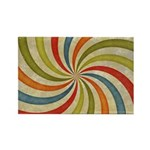 Psychedelic Retro Swirl Magnets