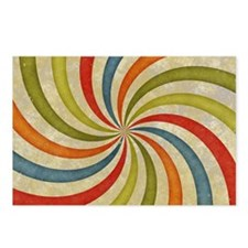 Psychedelic Retro Swirl Postcards (Package of 8)