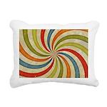 Psychedelic Retro Swirl Rectangular Canvas Pillow