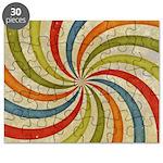 Psychedelic Retro Swirl Puzzle