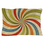 Psychedelic Retro Swirl Pillow Case