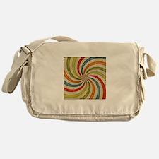 Psychedelic Retro Swirl Messenger Bag