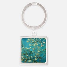 Vincent Van Gogh Blossoming Almond Square Keychain
