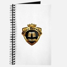 Golden Beer Brewing King Crown Crest Journal
