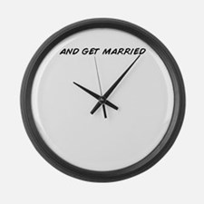 Cute Get married Large Wall Clock