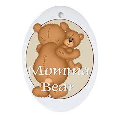 Momma Bear Oval Ornament