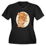 Momma Bear Women's Plus Size V-Neck Dark T-Shirt