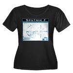 SPUTNIK 2 Blueprints Women's Plus Size Scoop Neck
