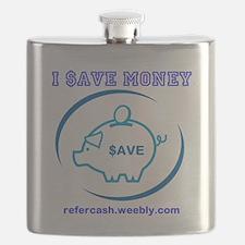 I $AVE MONEY PIGGY BANK Flask