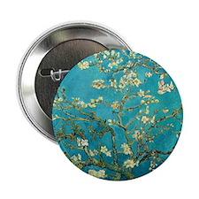 "Vincent Van Gogh Blossoming Almond Tr 2.25"" Button"