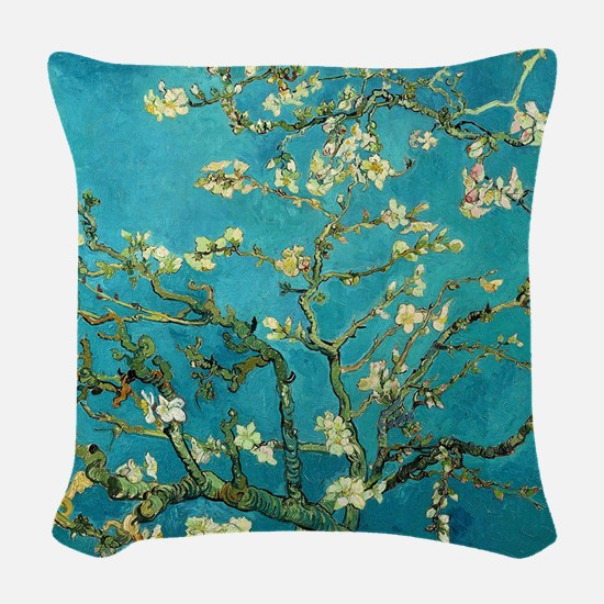 Vincent Van Gogh Blossoming Al Woven Throw Pillow