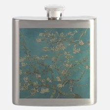 Vincent Van Gogh Blossoming Almond Tree Flask