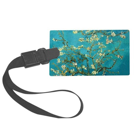 Vincent Van Gogh Blossoming Almo Large Luggage Tag