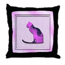 Abstract Cat Art Throw Pillow