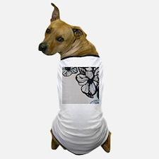 Flower Illustration Border Dog T-Shirt